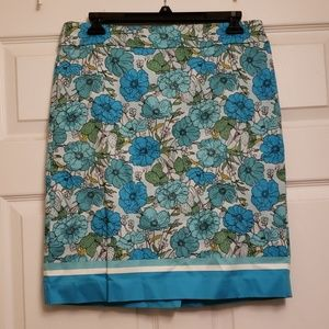 Talbot's blue flower skirt